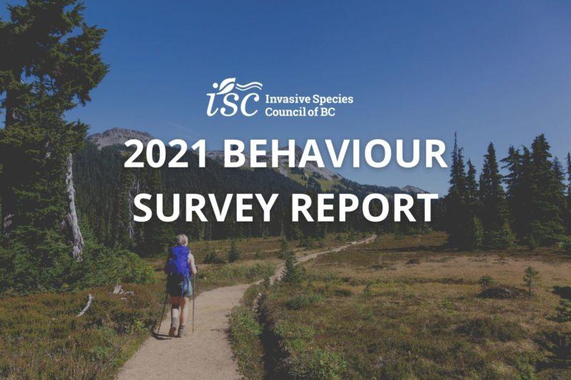 2021 Invasive Species Programs and Behaviour Survey Report
